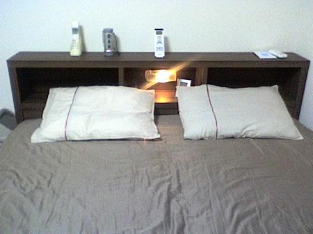 棚ライト付き・引出収納木製ベッド AVVRA 感想